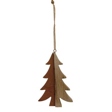 Albero da appendere in bronzo e in legno colore naturale , L 12.5 cm x P 0.9 cm