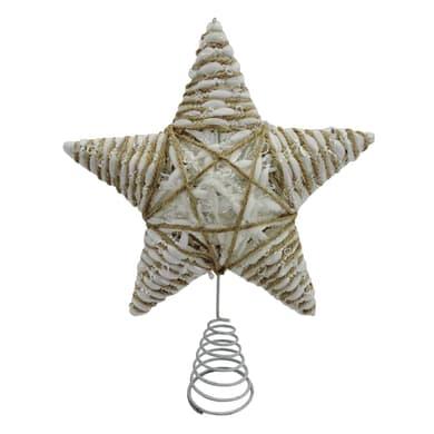 Puntale per albero di natale Stella in metallo H 31 cm