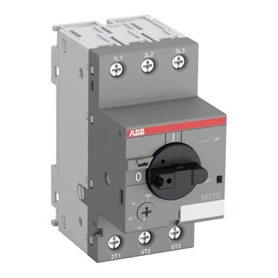 Protezione differenziale ABB MS116 1.6-2.5A 3 poli 2.5A 3 moduli 400V