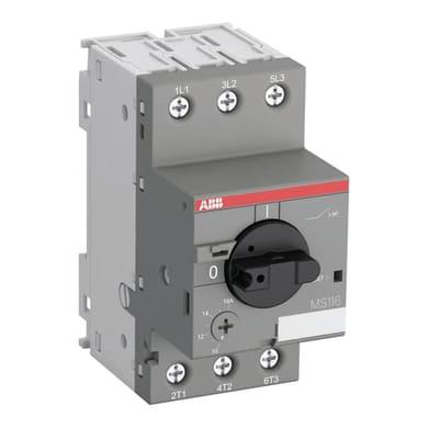 Protezione differenziale ABB MS116 6.30-10A 3 poli 10A 3 moduli 400V