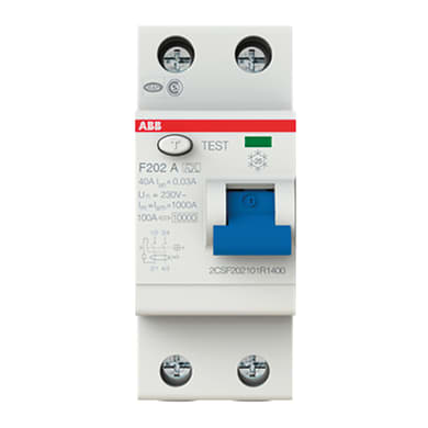Interruttore differenziale puro ABB F202 A-40/0,03 2 poli 40A 30mA A 2 moduli 230V