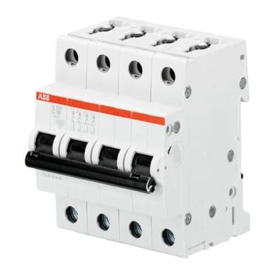 Interruttore magnetotermico ABB S204 C10 3P+N 10A 6kA 4 moduli 400V