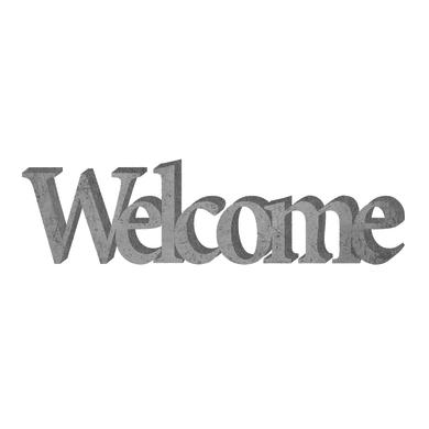 Scritta Welcome cemento 40x12 cm