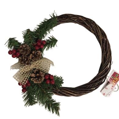 Corona di natale marrone Ø 30 cm