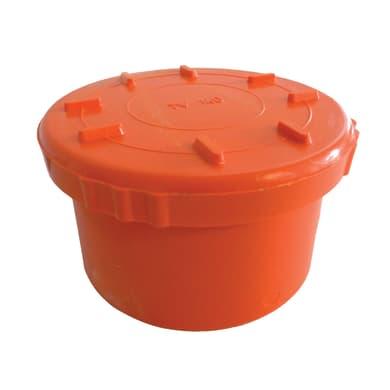 Tappo di ispezione arancione in PVC Ø140 mm