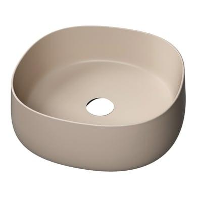 Lavabo da appoggio  in ceramica marrone
