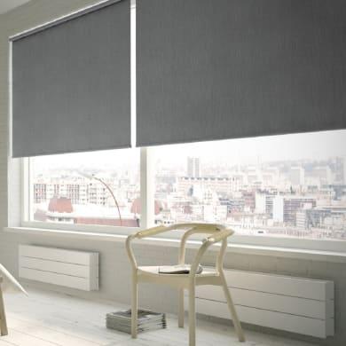 Tenda a rullo Texture oscurante grigio 90x250 cm