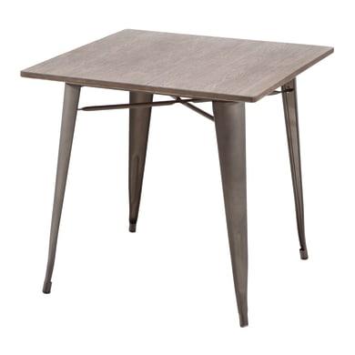 Tavolo da pranzo per giardino quadrato Soho con piano in legno L 80 x P 80 cm