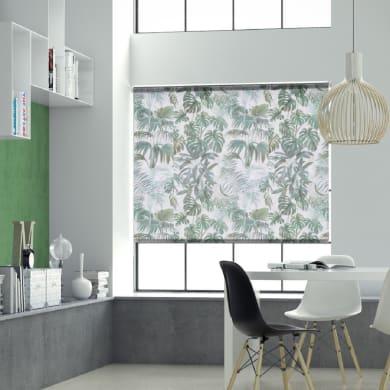 Tenda a rullo Foliage verde e bianco 90x250 cm