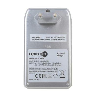 Caricabatterie universale LEXMAN 2 AA + 2AAA NiMH