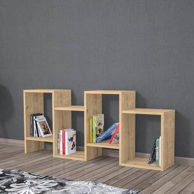 Libreria Hydra 8 ripiani L 116.4 x P 22 x H 53.5 cm