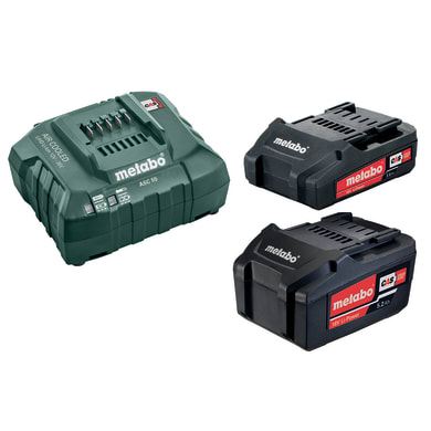Set caricabatteria METABO in litio (li-ion) 18 V 5.2 Ah