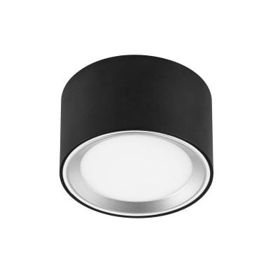Faretto fisso da incasso tondo Oberon in alluminio, nero, diam. 10 cm 6x10cm LED integrato 0W 850LM IP20 INSPIRE