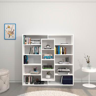 Libreria Dalia 8 ripiani L 130 x P 27 x H 130 cm