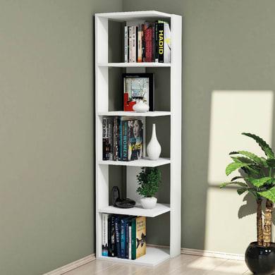 Libreria Corner 5 ripiani L 41.8 x P 41.8 x H 160.8 cm