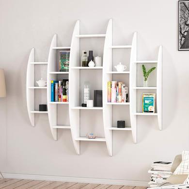 Libreria Alvino 16 ripiani L 146 x P 29 x H 147 cm