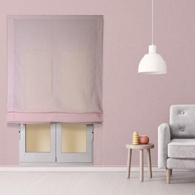 Tendina pieghevole in tessuto INSPIRE Aire rosa 105x250 cm