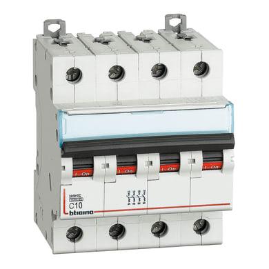 Interruttore magnetotermico BTICINO BTDIN60 4P10A 6kA C 4 moduli 220V