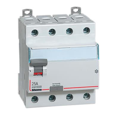 Interruttore differenziale puro BTICINO G743A25 4 poli 25A 30mA 4 moduli 380V