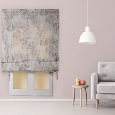 Tendina pieghevole in tessuto INSPIRE Fogliabella grigio / argento 180x250 cm