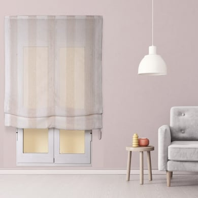 Tenda a pacchetto INSPIRE Riga Larga beige / bianco 75x250 cm