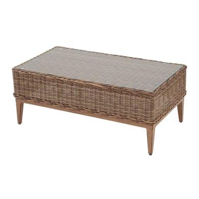 Tavolino da giardino rettangolare Bermuda con piano in plastica L 61 x P 114 cm