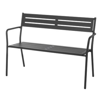 Panchina 2 posti in acciaio Trevi colore antracite