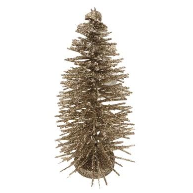 Albero di natale artificiale Glitter oro H 23 cm