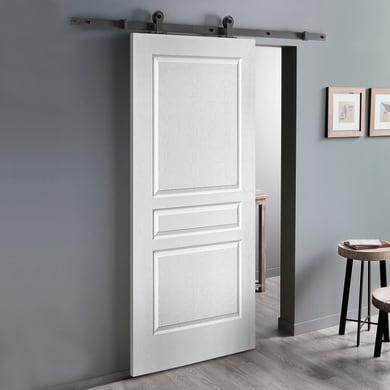 Porta scorrevole con binario esterno Chelsea in mdf laccato Kit Indus L 93 x H 212 cm