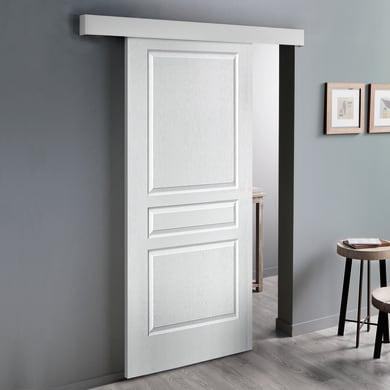 Porta scorrevole con binario esterno Chelsea in mdf laccato Kit Atelier L 93 x H 212 cm