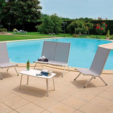 Set tavolo e sedie in alluminio per 4 persone