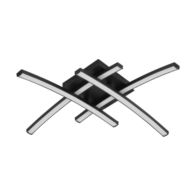 Plafoniera Beryl nero, in alluminio45 cm, diam. 45 , 4 luci , IP20 INSPIRE