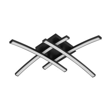 Plafoniera design Beryl LED integrato nero, in alluminio, 45 cm, 4  luci INSPIRE