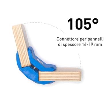 Sistema di assemblaggio playwood 105° in pvc L 152 x  4 pezzi , blu
