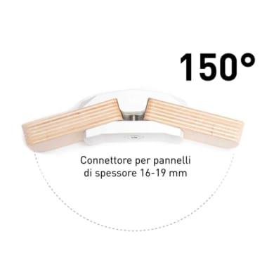 Sistema di assemblaggio playwood 150° in pvc L 152 x  4 pezzi , bianco