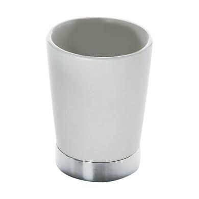 Bicchiere porta spazzolini Petunia in ceramica bianco
