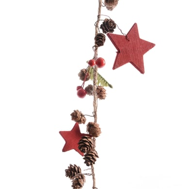 Ghirlanda natalizia rosso L 120 cm , Ø 10 cm
