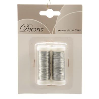 Accessori di natale grigio / argento 2 pezzi