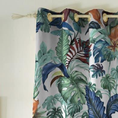 Tenda INSPIRE Malibù verde occhielli 140 x 270 cm