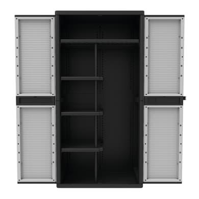 Armadio Jumbo 3900Q L 89.7 x P 53.7 x H 180 cm grigio e nero
