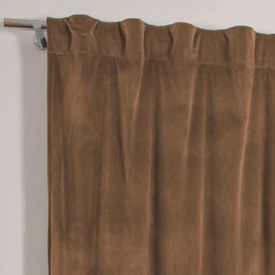 Tenda Misty marrone cammello fettuccia con passanti nascosti 135 x 280 cm