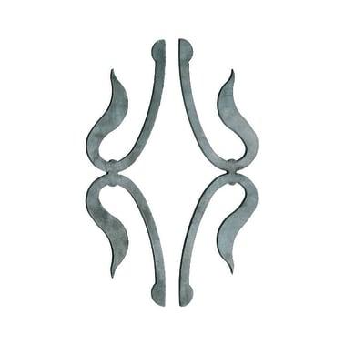 Fregio in ferro battuto L 92 x H 300 mm