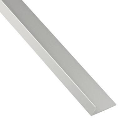 Profilo angolare asimmetrico STANDERS in alluminio 2.6 m x 1.6 cm grigio