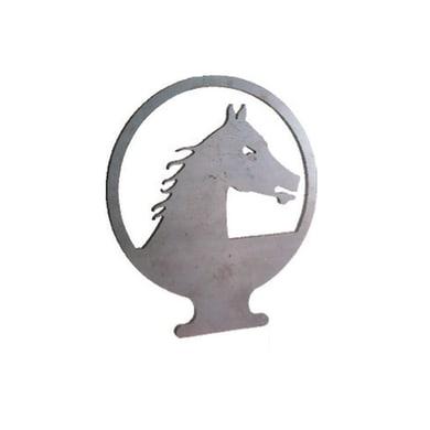 Fregio Cavallo in ferro battuto L 200 x H 230 mm