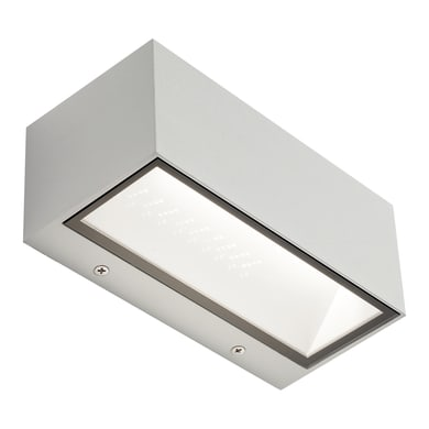 Applique Box LED integrato in alluminio, bianco, 12W 630LM IP65