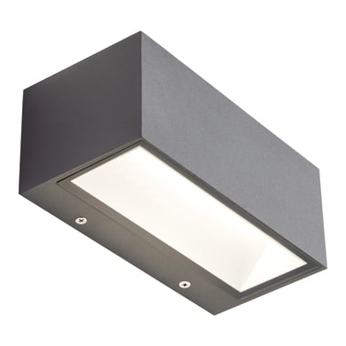 Applique Box LED integrato in alluminio, grigio, 12W 630LM IP65