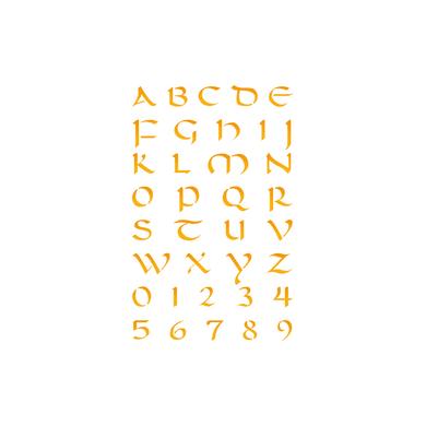 Stencil tema lettere, parole e numeri LES DECORATIVES Alfabeto 30.0 x 0.1 cm