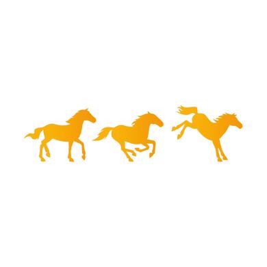 Stencil tema animali e personaggi LES DECORATIVES Cavalli 40.0 x 0.1 cm