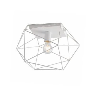 Plafoniera design Abraxas bianco, in metallo, 30x41 cm,