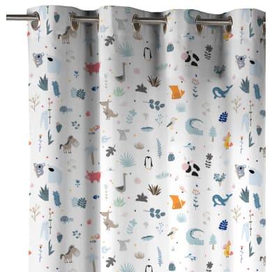 Tenda INSPIRE Cactus multicolor occhielli 140 x 270 cm